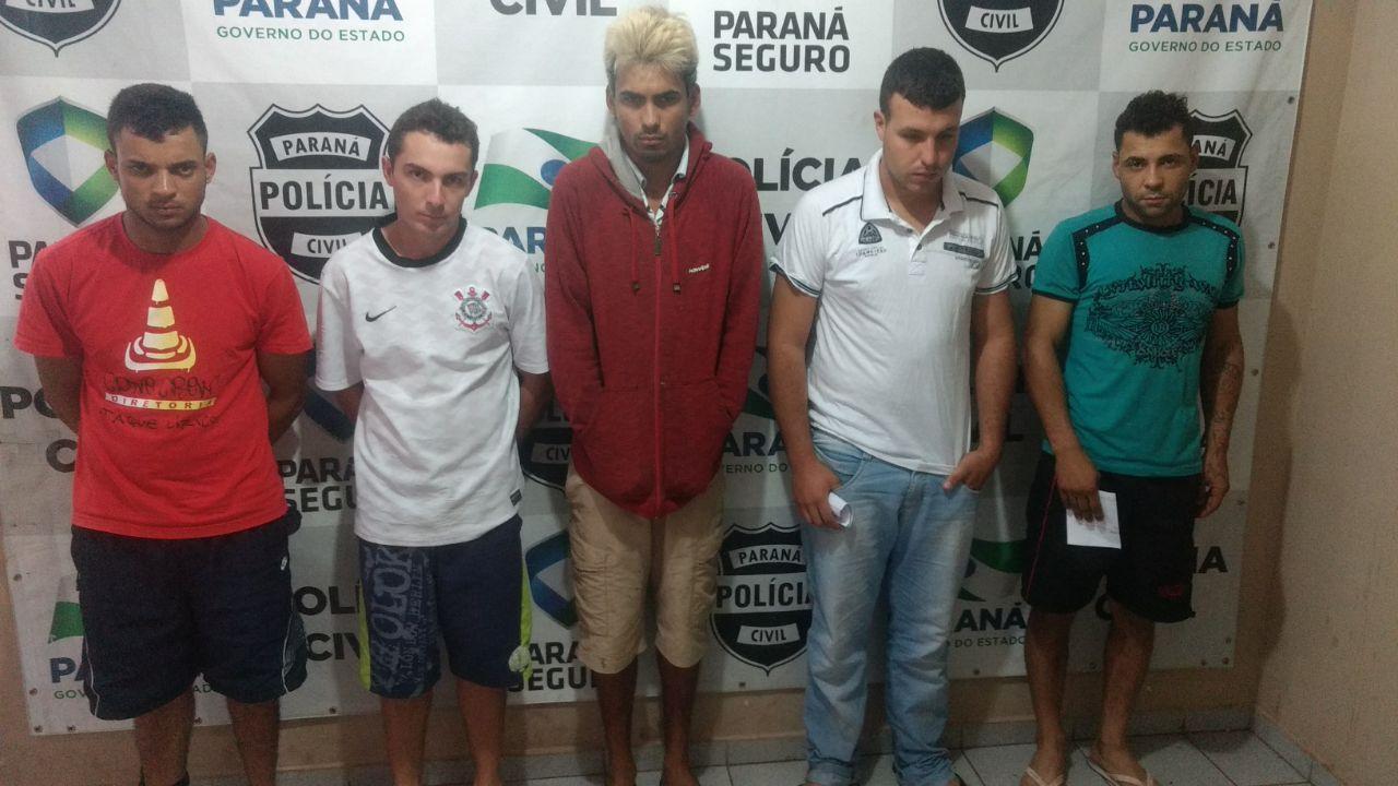Cinco homens são presos por roubos a residências em Cambé