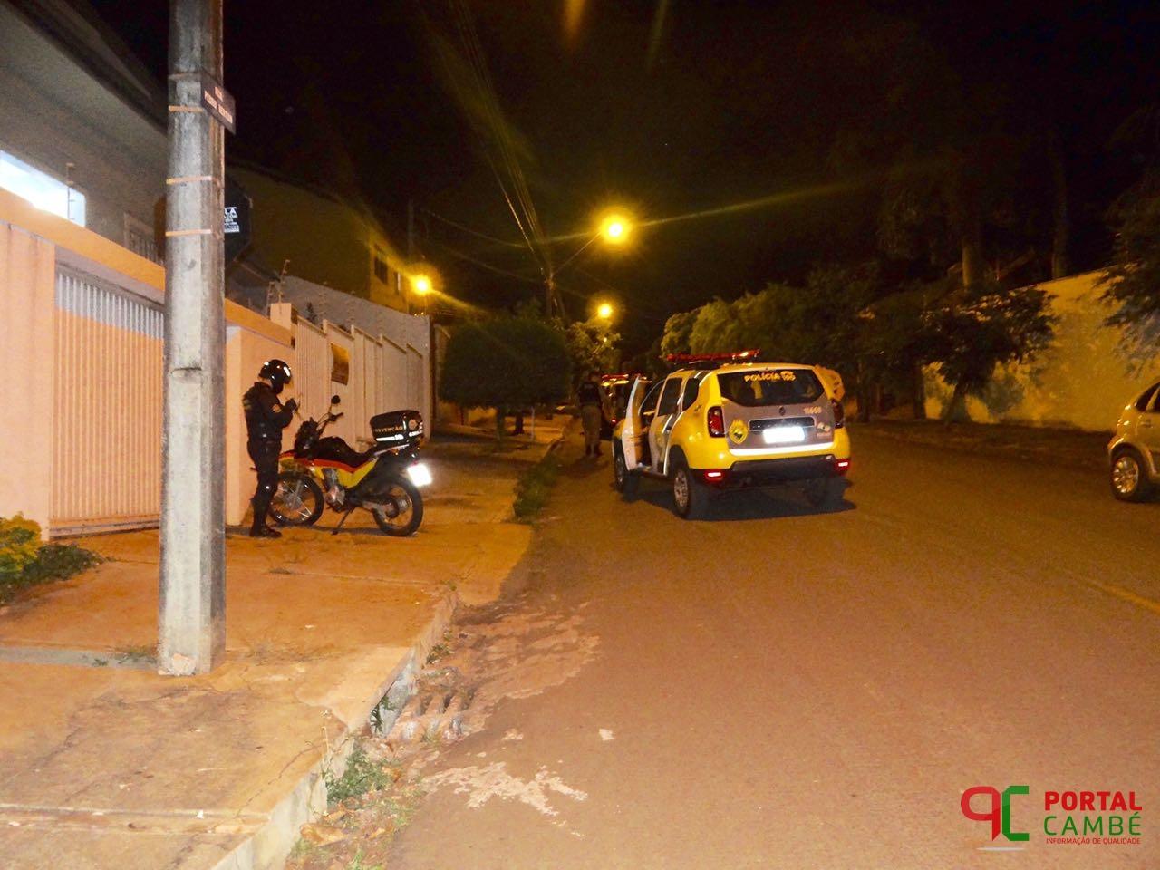 Tentativa de furto a uma residência no Parque Osvaldo Sella em Cambé movimenta a Polícia Militar