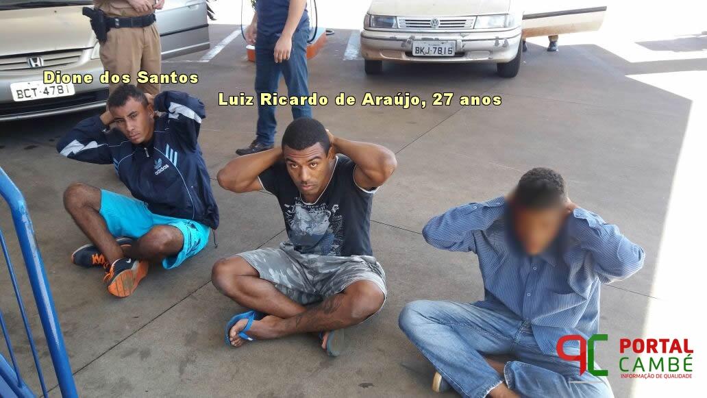 Bandidos são presos ao tentar furtar residência no Jardim Vila Rica em Cambé