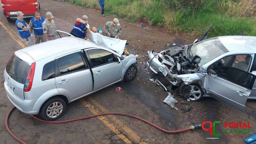 Bebê e mais cinco pessoas ficam feridas em acidente grave na Av. José Bonifácio em Cambé