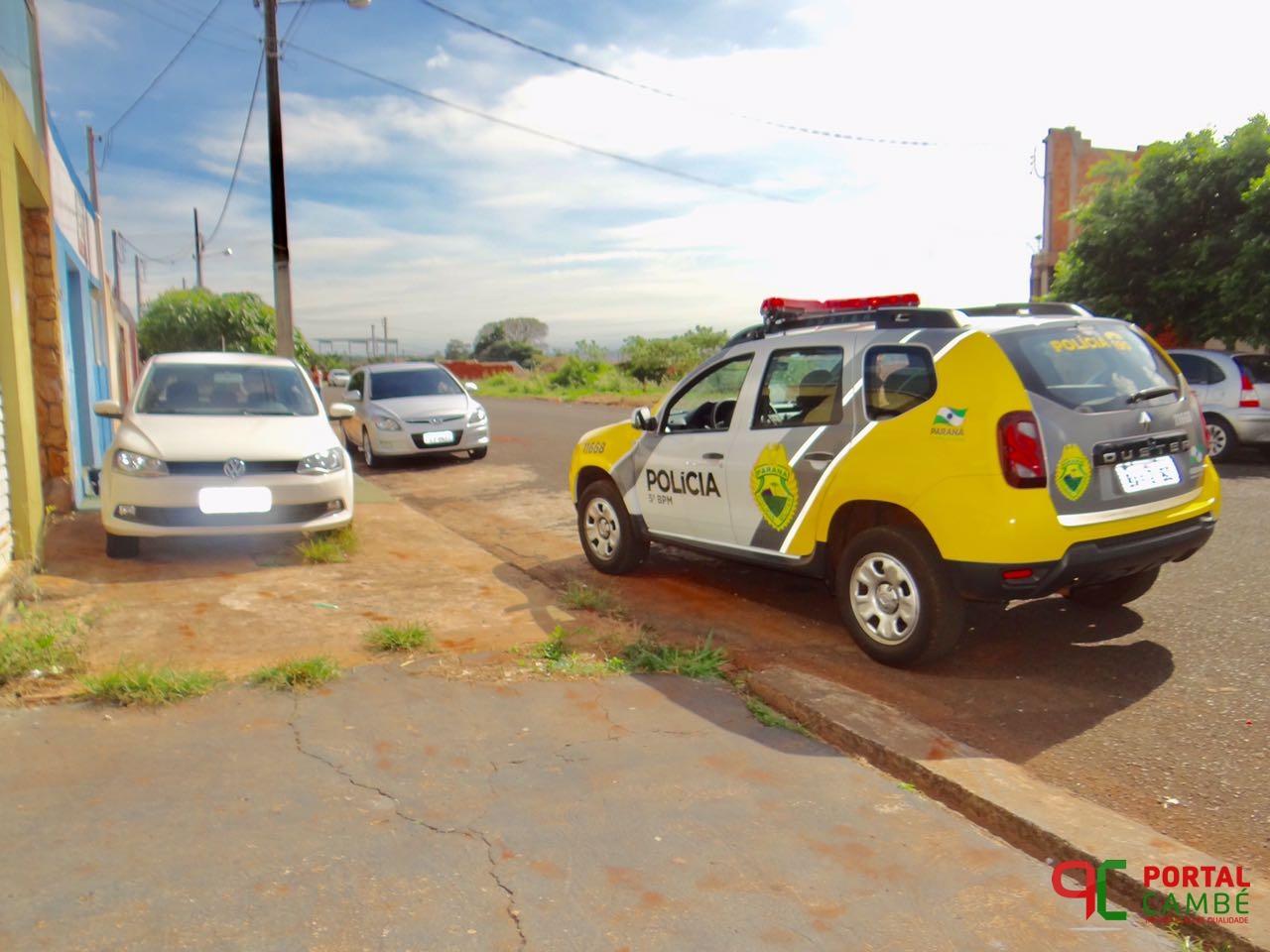 Veículo roubado em Londrina é localizado abandonado no Jardim Bela Itália em Cambé