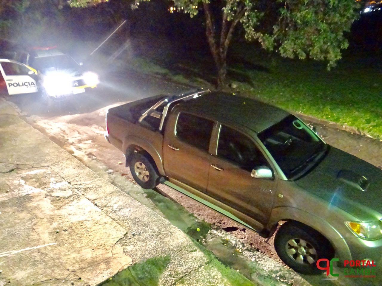 Assaltante invade farmácia, rouba camioneta e abandona no Jardim Novo Bandeirantes em Cambé