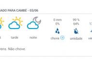 Final de semana será de frio em Cambé