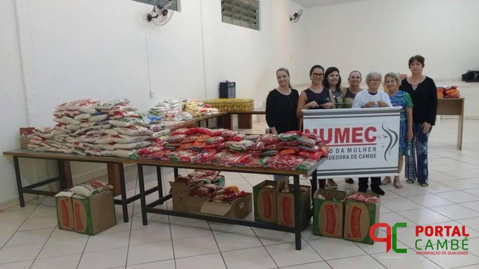 Núcleo das Mulheres Empreendedoras de Cambé arrecada alimentos para o Lar Santo Antônio