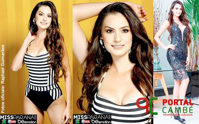 Cambeense Patrícia Garcia é eleita Miss Paraná 2017