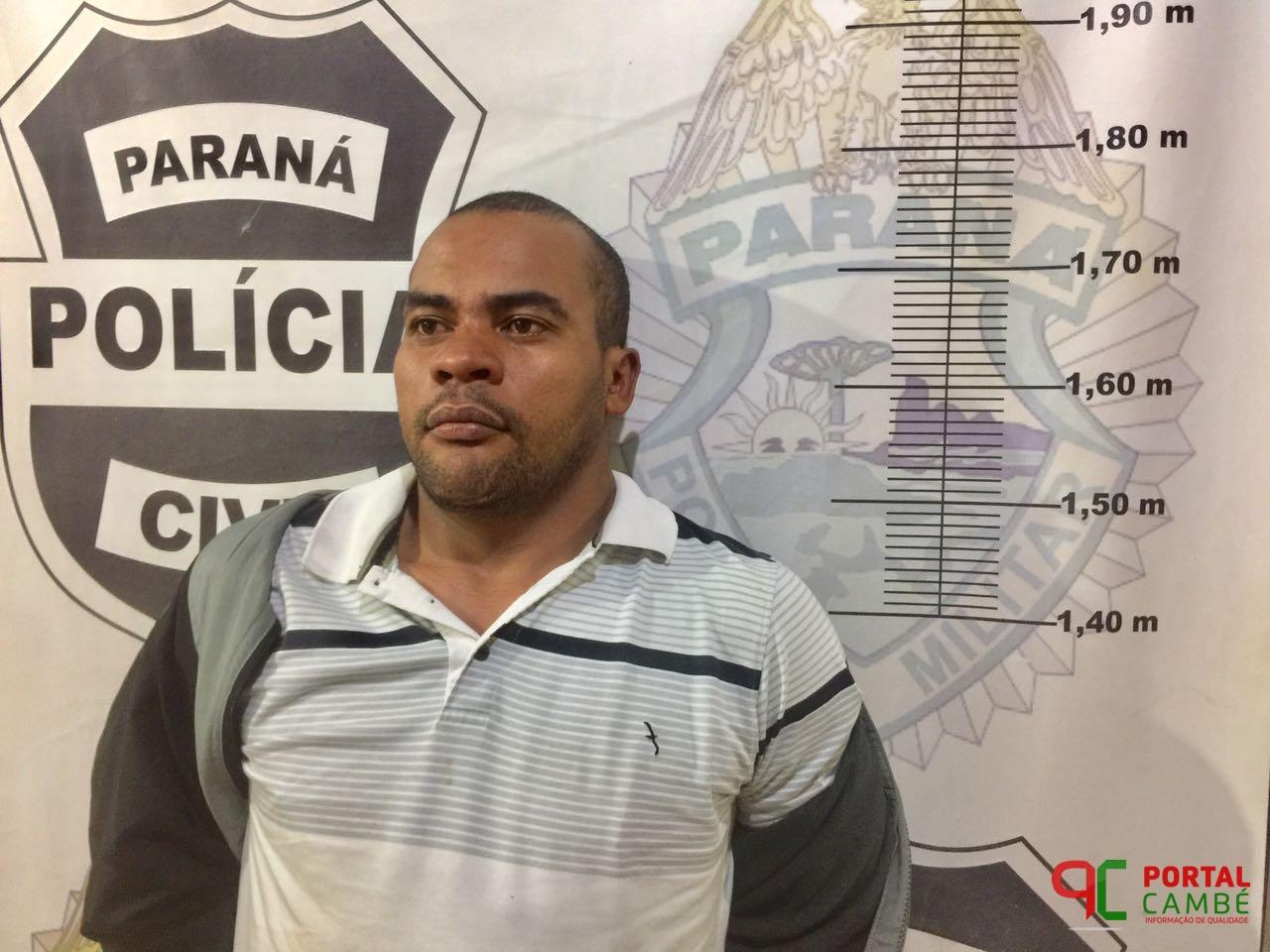 Polícia Militar prende em flagrante no Jardim São José em Cambé homem suspeito de roubo