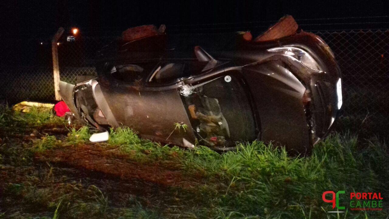Homem perde a vida após capotar veículo na PR-445 em Cambé