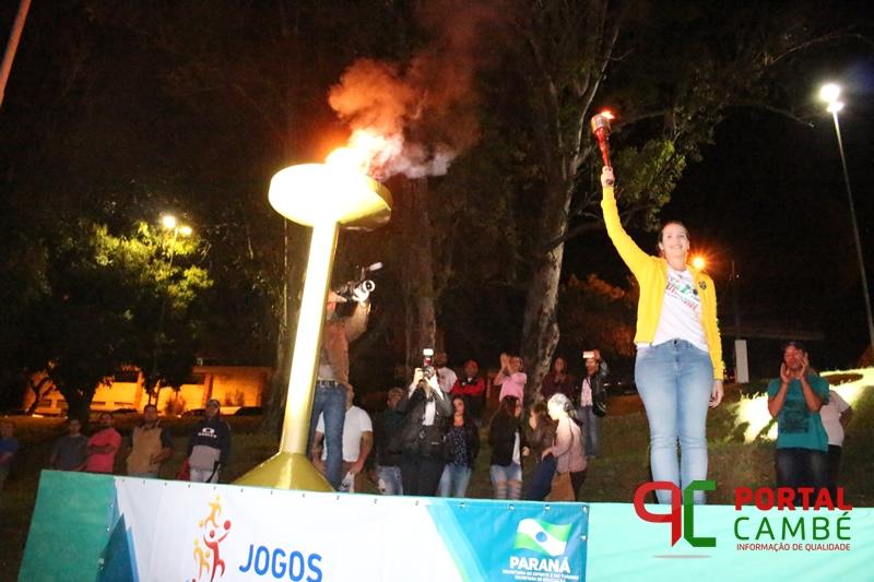 Cerimônia de abertura da fase final dos JEPs foi realizada no Parque Zezão em Cambé