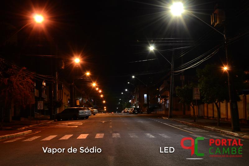 Iluminação de LED começa a ser instalada nas avenidas de Cambé