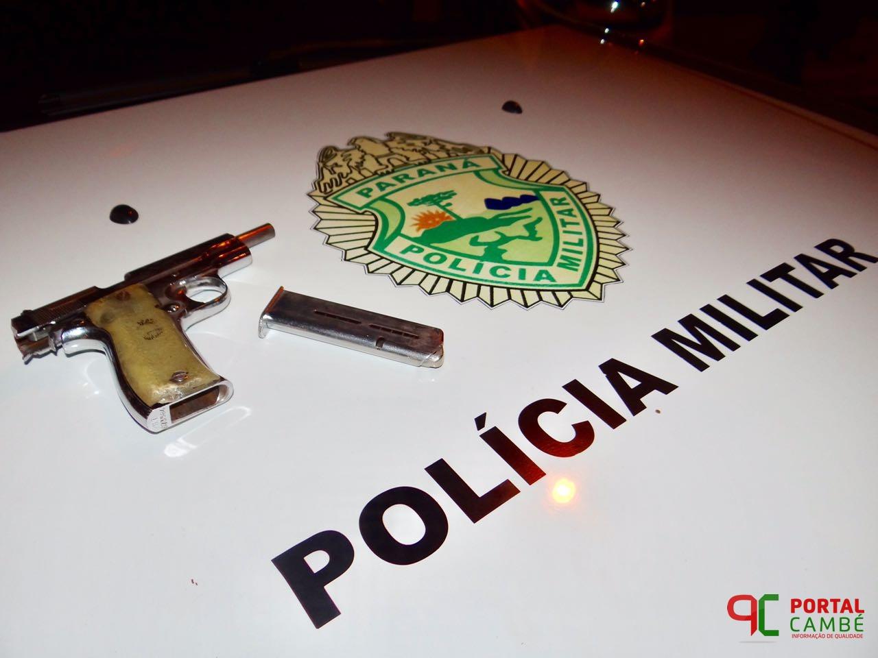 Adolescente suspeito de roubo é detido com arma no Jardim Santo Amaro em Cambé
