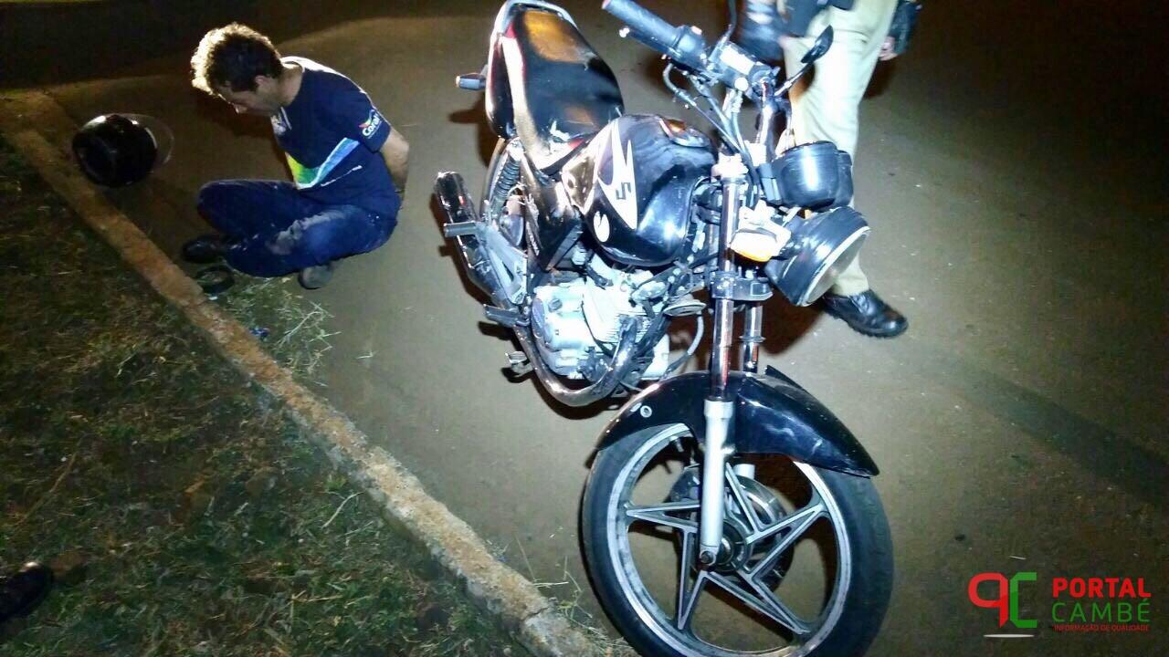 Homem é detido conduzindo motocicleta com numeração de chassi suprimida em Cambé