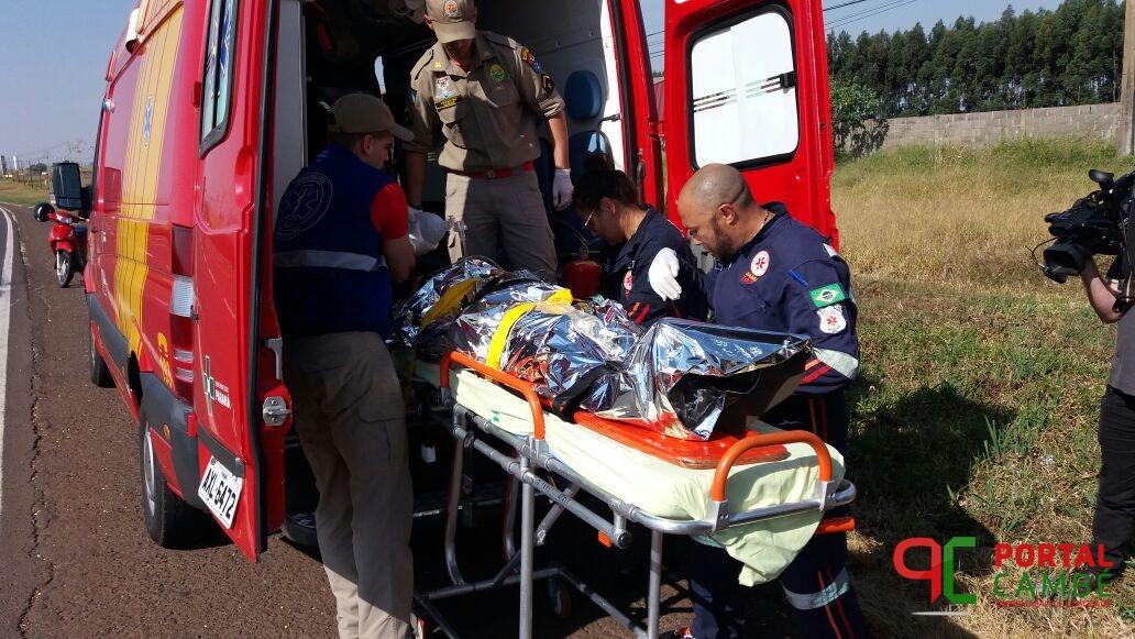 Grave acidente registrado na BR 369 entre Rolândia e Cambé.