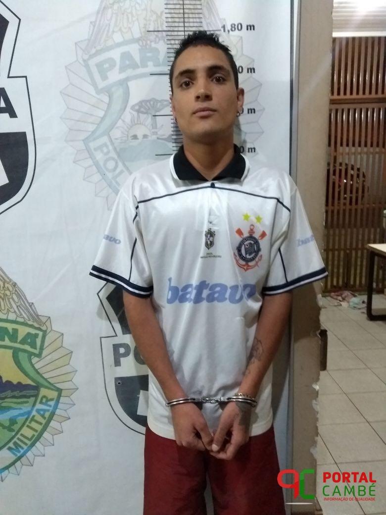 Jovem é preso com mandado de prisão e menor apreendido com entorpecente no Conjunto Ulysses Guimaraes em Cambé