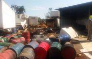 Incêndio atinge depósito de produto inflamável em Cambé