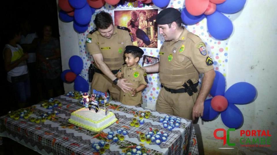 Polícia Militar realiza sonho de criança do Jardim São Paulo em Cambé
