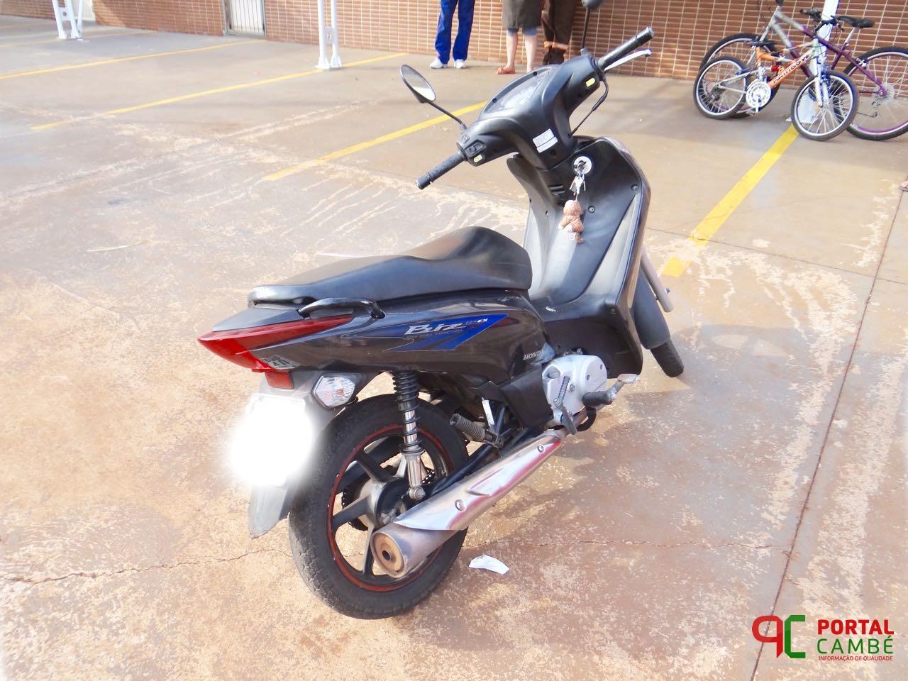 PM recupera moto no Jardim Montecatini em Cambé após equiparação ao roubo; dois menores infratores apreendidos