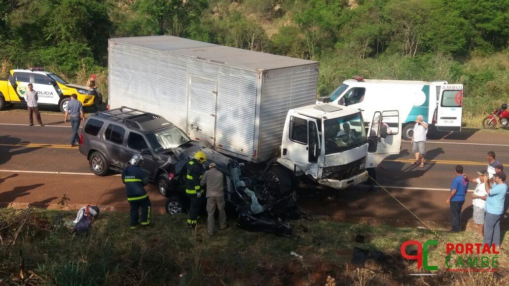 Cambeenses morrem em grave acidente na PR 445 próximo a Tamarana