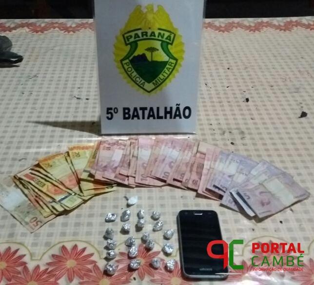 Homem é preso por tráfico de drogas no Jd. Tupi em Cambé