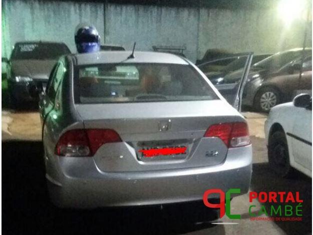 Polícia Militar recupera veículo roubado e apreende um suspeito em Cambé