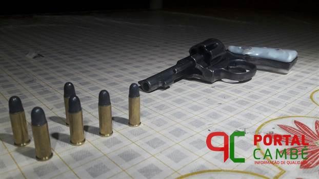 Idoso é detido por posse ilegal de arma de fogo em Cambé
