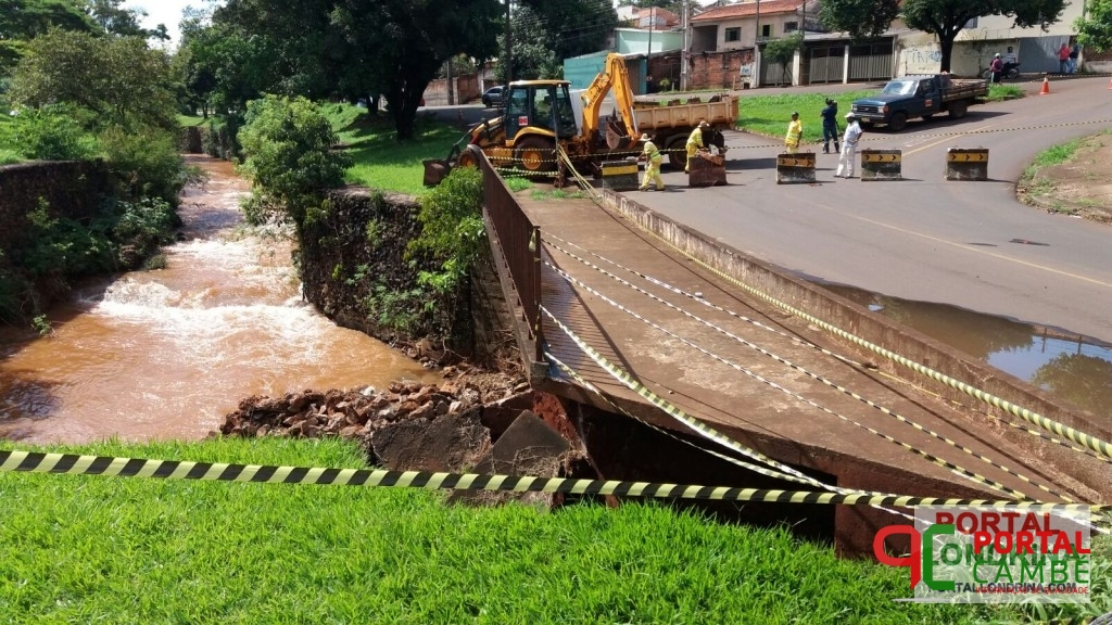 Prefeitura de Londrina inicia recuperação da ponte na Rua Charles Lindemberg
