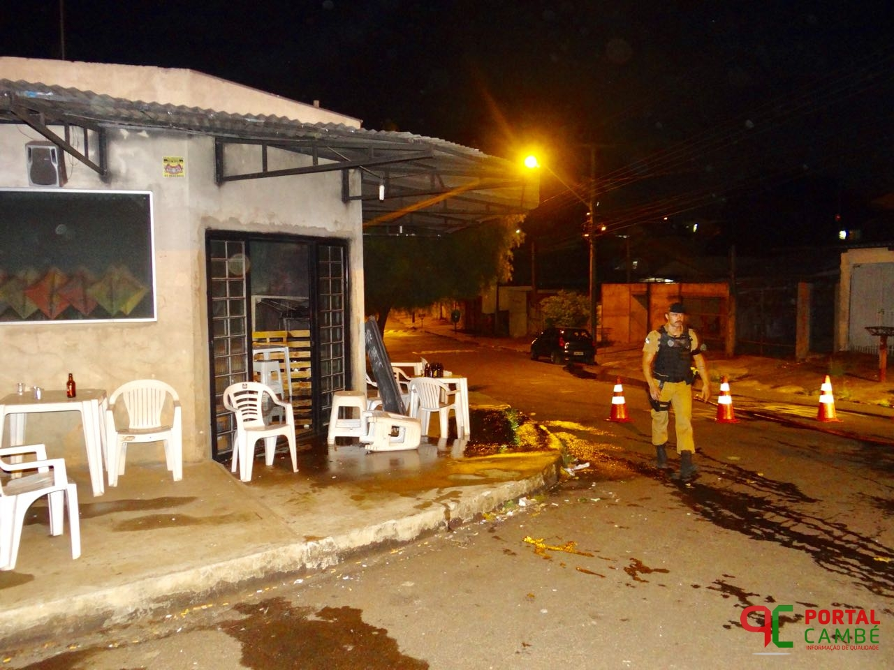 Bar é alvo de disparos de arma de fogo e incêndio no Jardim Tupi em Cambé, uma mulher fica ferida