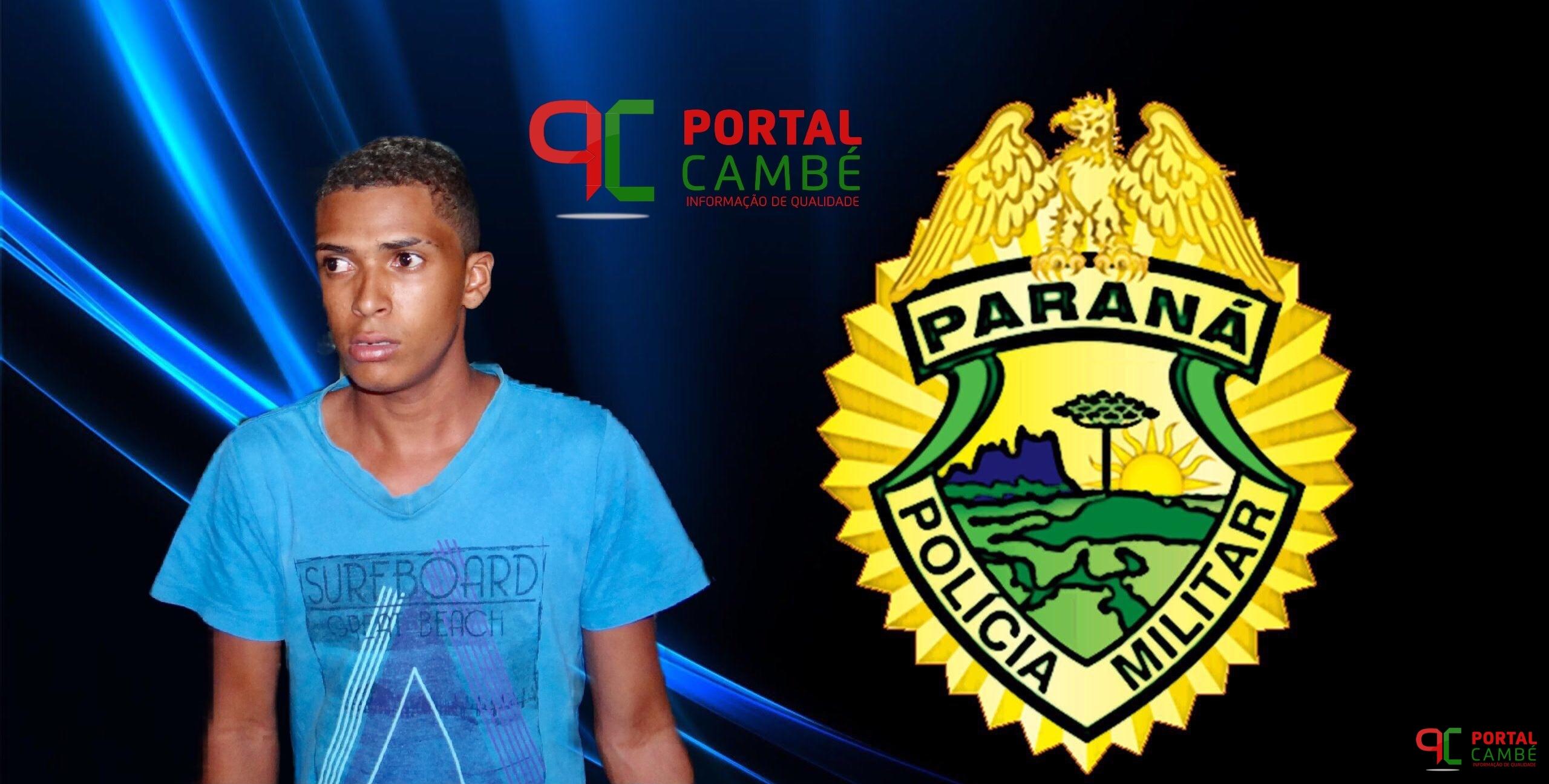Jovem suspeito é preso após roubar ônibus no Jardim Ana Rosa em Cambé