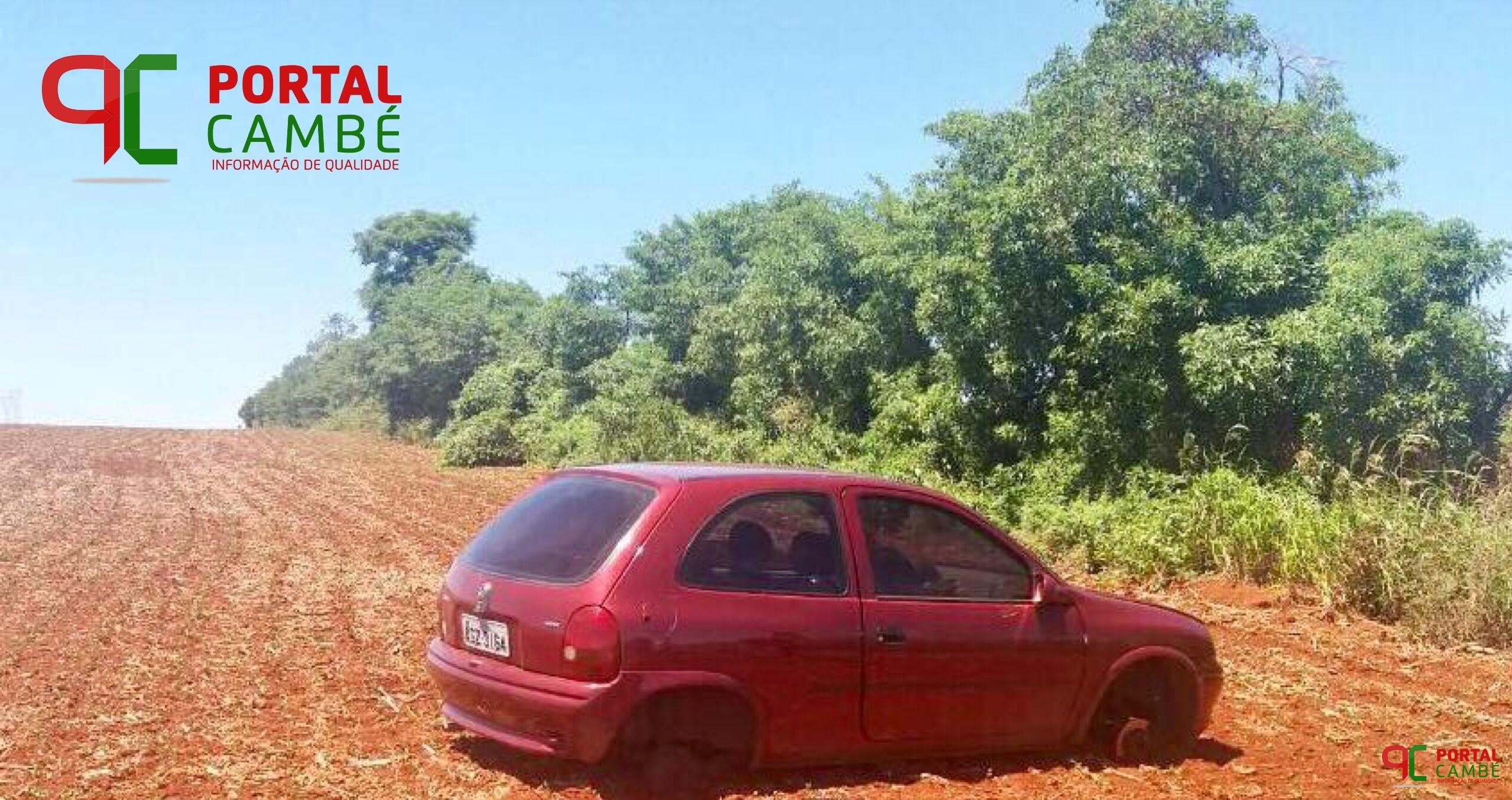 Veículo furtado em Cambé é localizado abandonado na Avenida Saul Elkind em Londrina