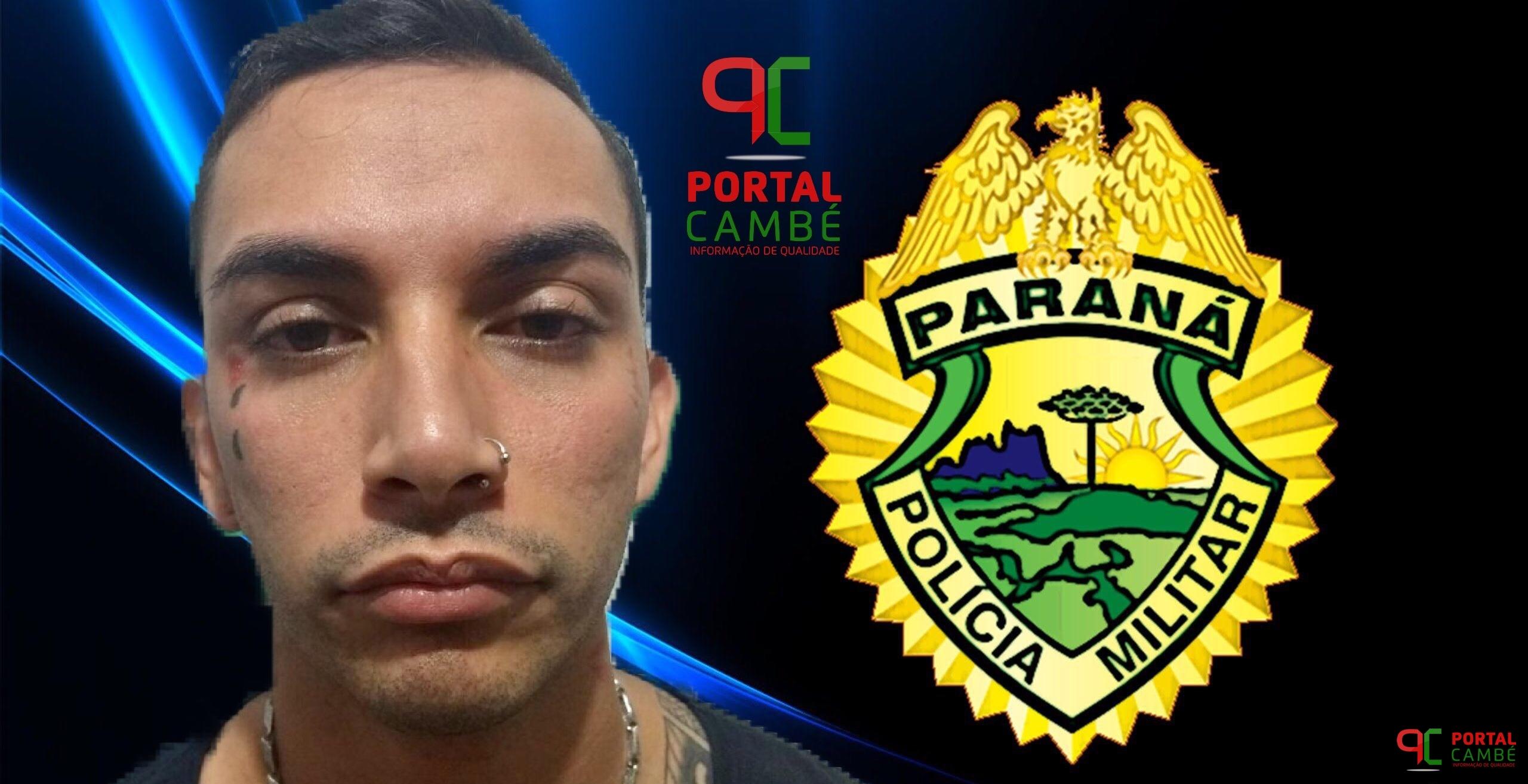 Polícia Militar prende homem por porte ilegal de arma de fogo no Centro de Cambé
