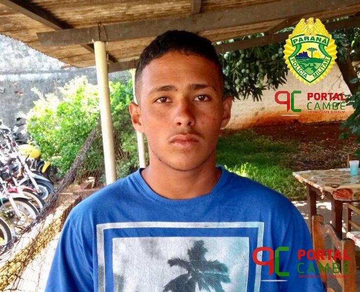 Polícia Militar de Cambé prende rapaz suspeito de tráfico de drogas e apreende mais de um quilo de maconha