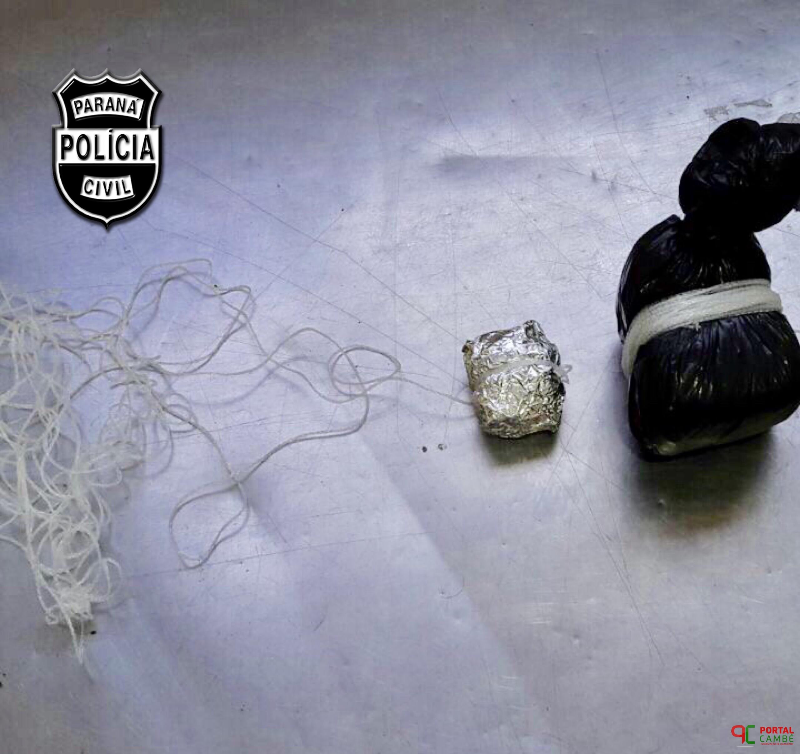 Agentes de Cadeia e Policial Civil impedem tentativa de entrega de droga na Delegacia de Cambé