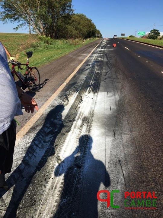 Queda em grupo de ciclistas deixa pelotão inteiro ferido entre Mandaguari e Marialva