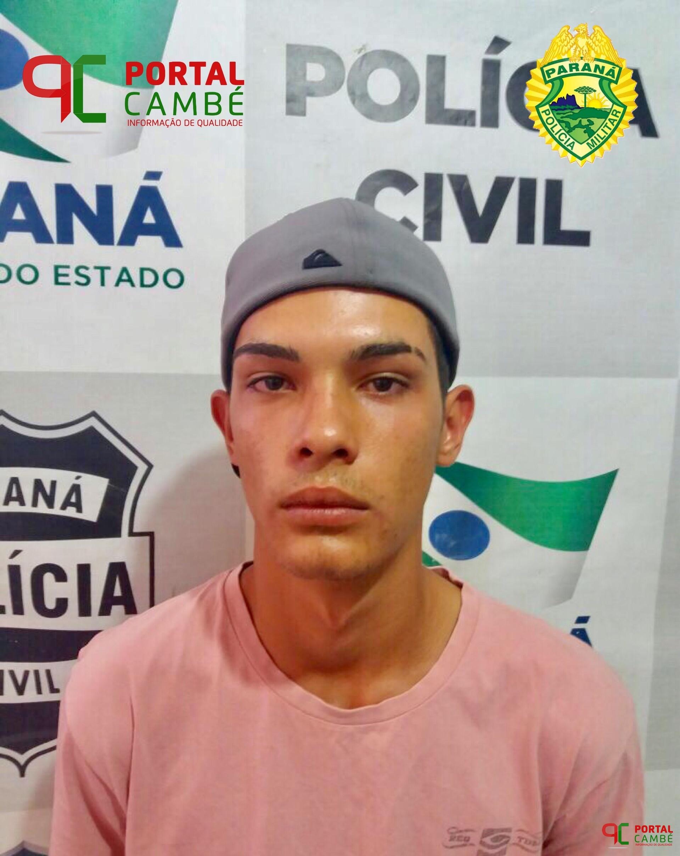 Jovem é preso com grande quantidade de drogas na Avenida Roberto Conceição em Cambé