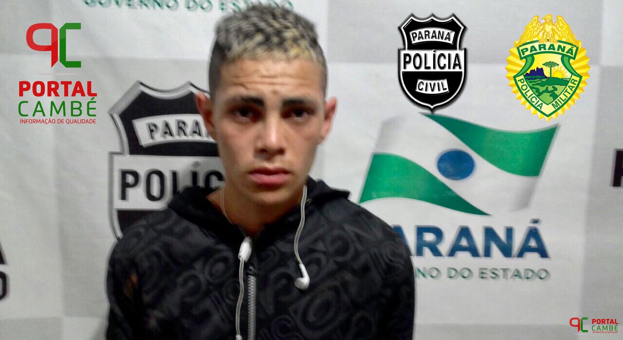 Jovem é preso tentando arremessar drogas e celular para dentro da cadeia de Cambé