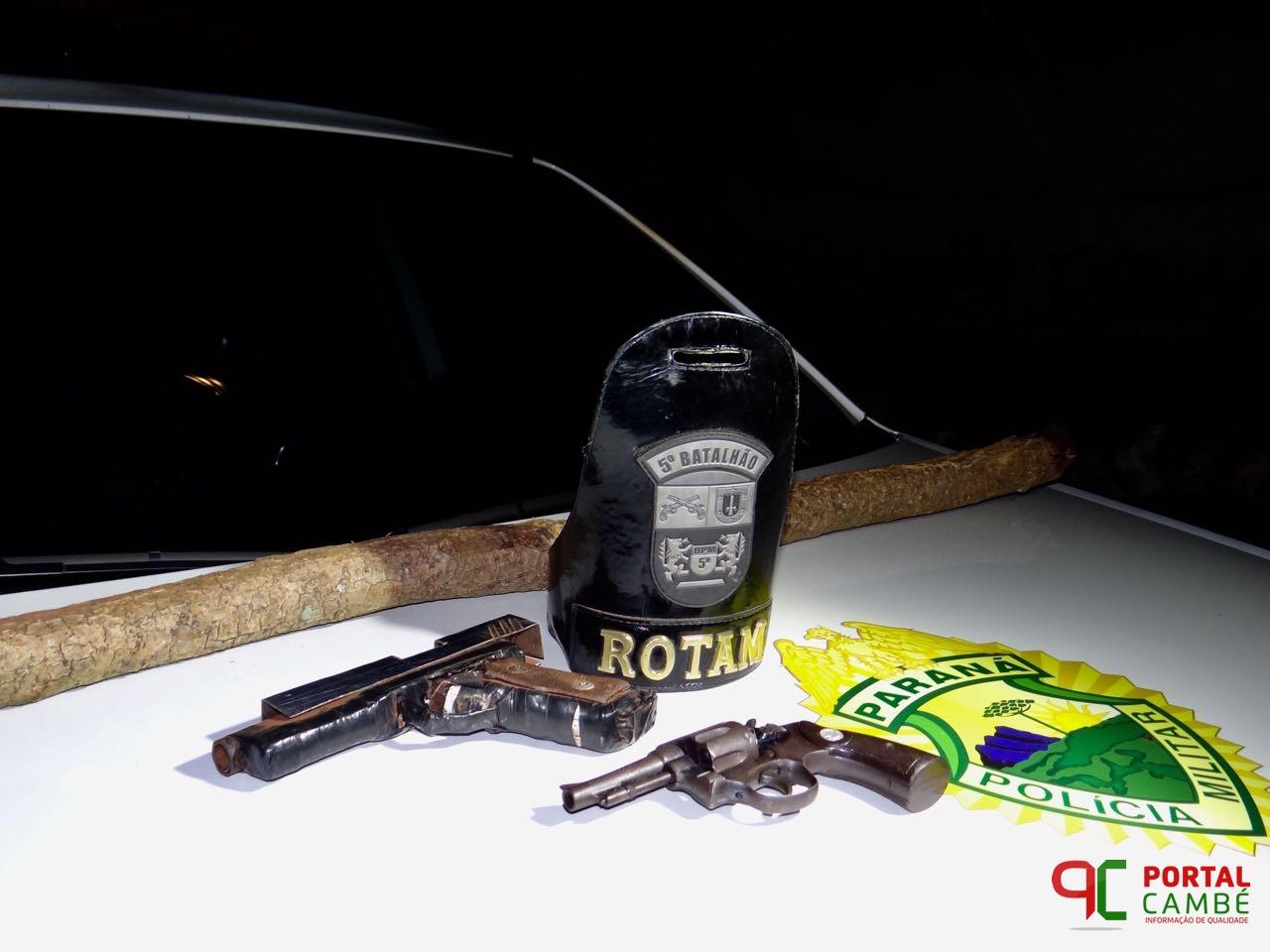 ATUALIZADA: Ação rápida da Polícia Militar evita assalto em chácara de Cambé; suspeito baleado morre no hospital