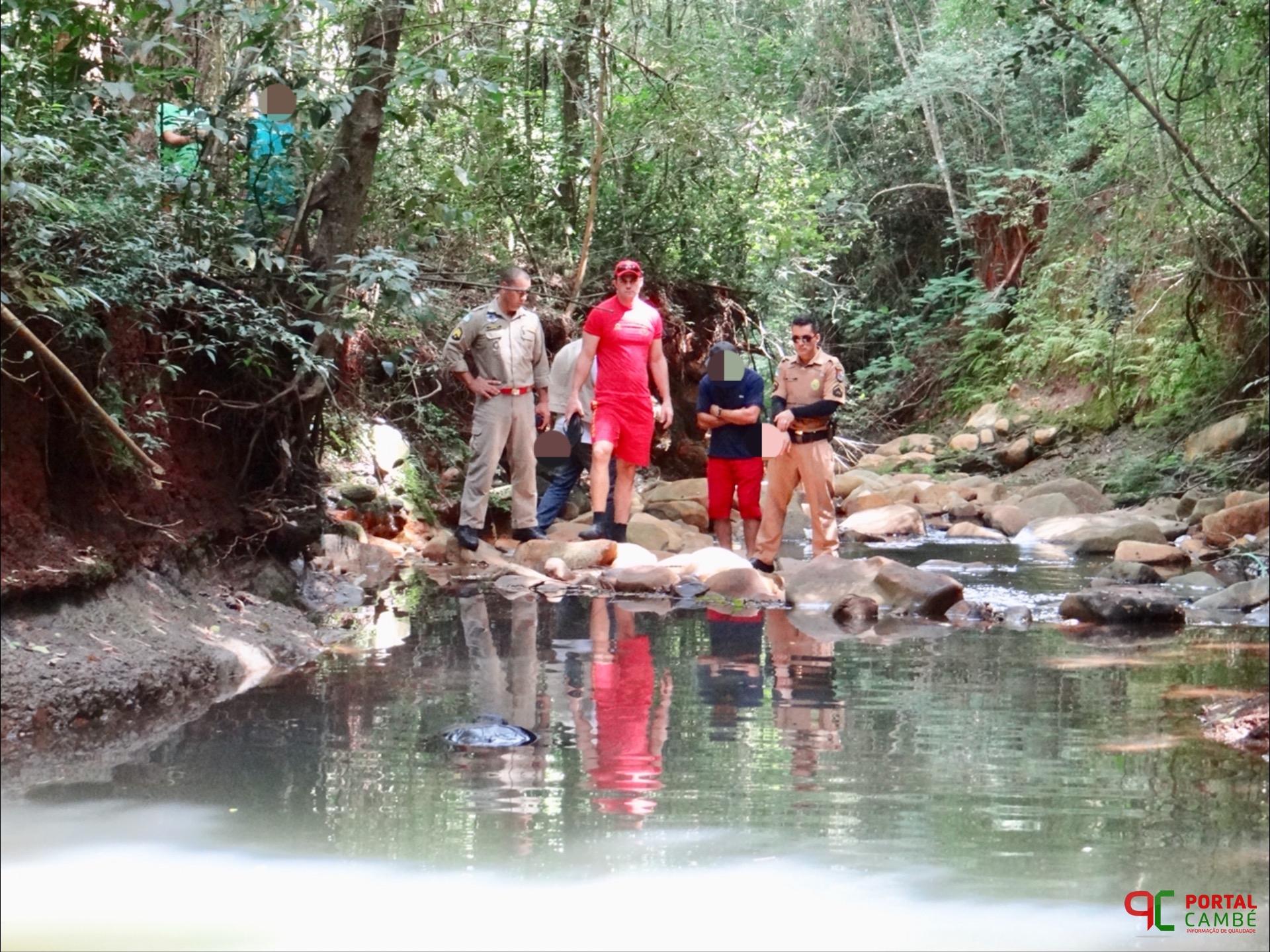 Corpo é encontrado boiando no Córrego da Verdade no Jardim Tarobá em Cambé