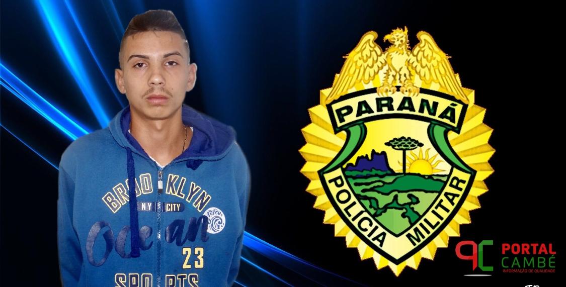 Rapaz é preso com entorpecente no Jardim Ana Rosa em Cambé