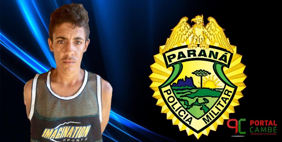 Rapaz é preso com entorpecentes no Jardim Ana Rosa em Cambé