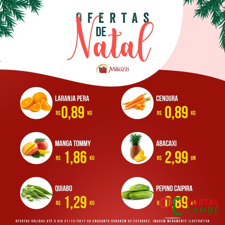 Confira as ofertas de Natal do Supermercado Miliozzi
