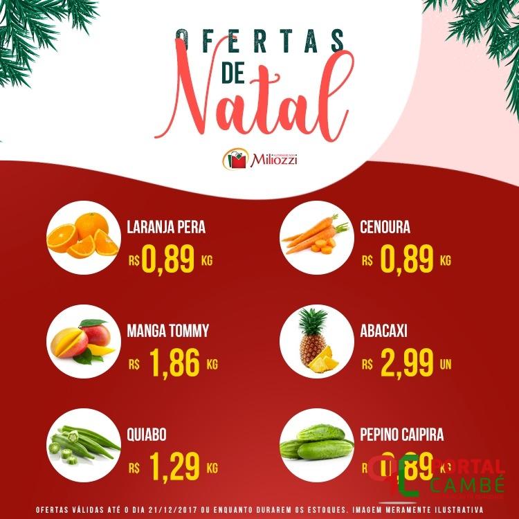 Confira as ofertas de Natal do Supermercado Miliozzi