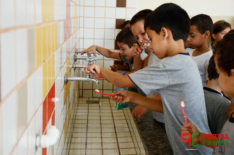 Saúde alcança maior resultado em ação de saúde bucal nas escolas de Cambé