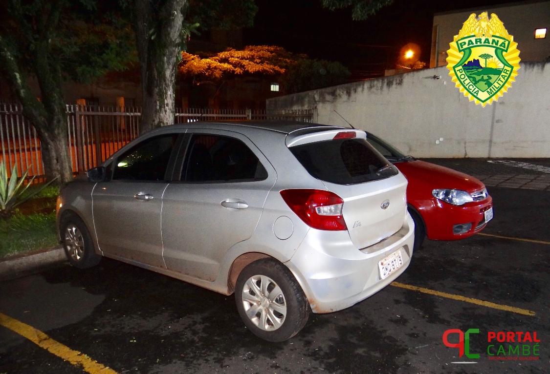 Homem deixa chave dentro do carro e veículo é furtado no Residencial Golden Park em Cambé