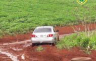 Veículo roubado é recuperado pela Polícia Militar em área rural de Cambé