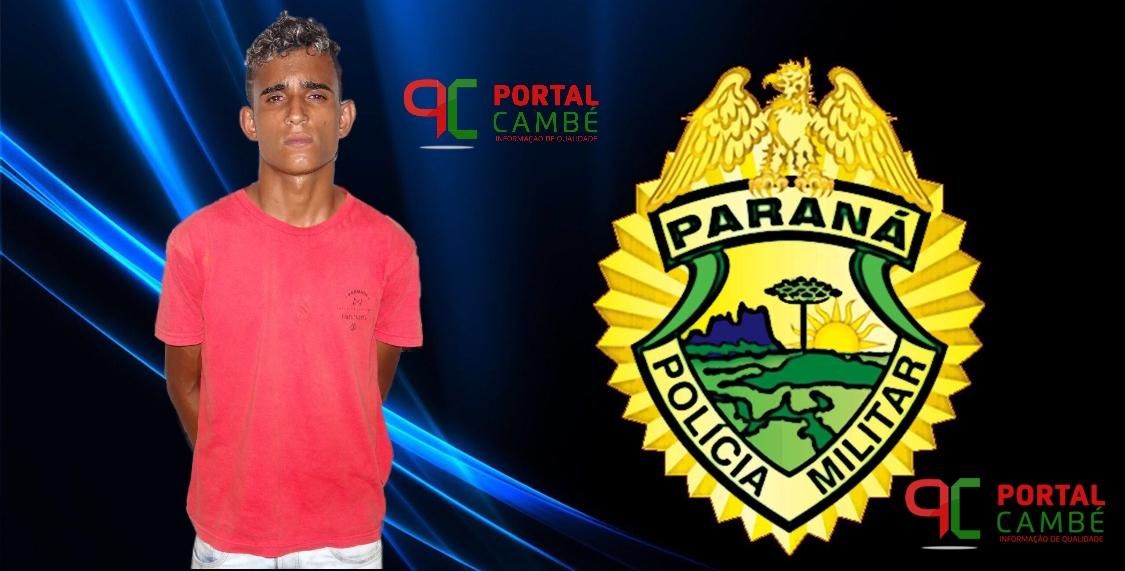 Polícia Militar prende rapaz suspeito de tráfico de drogas no Jardim Ana Rosa em Cambé