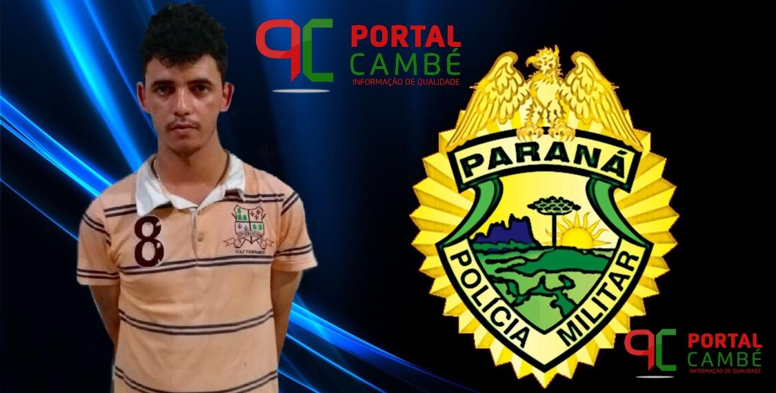 Suspeito de tráfico de drogas é preso no Jardim Ana Rosa em Cambé