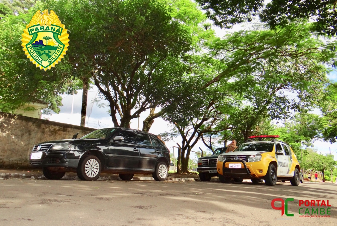 Veículo roubado em Londrina é encontrado abandonado no Jardim Santo Amaro em Cambé