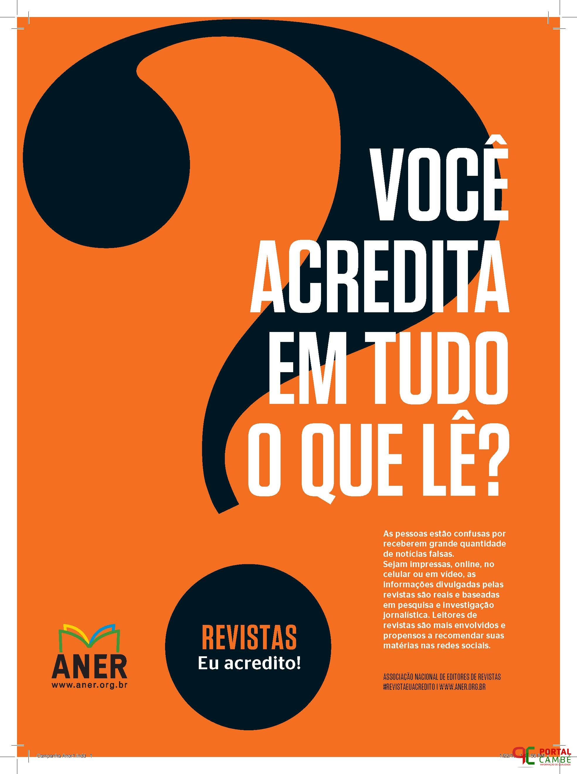 ANER lança campanha de combate às notícias falsas