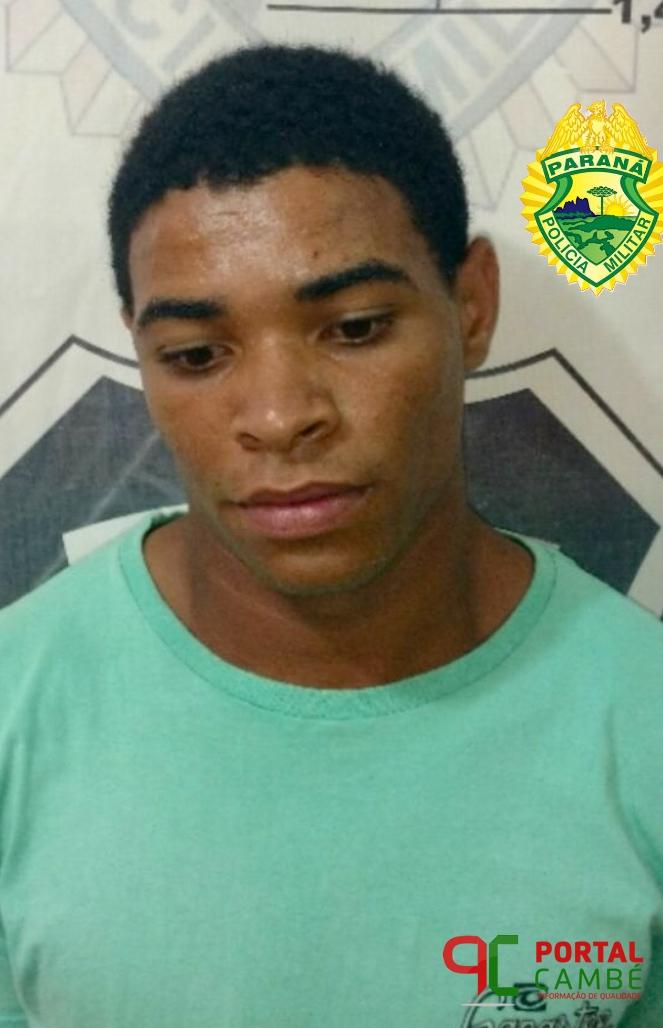 Após denúncia, rapaz é preso suspeito de tráfico de drogas no Jardim Novo Bandeirantes em Cambé