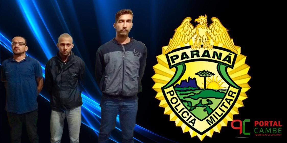 Trio é preso em tabacaria suspeitos de tráfico de drogas no Jardim Novo Bandeirantes em Cambé