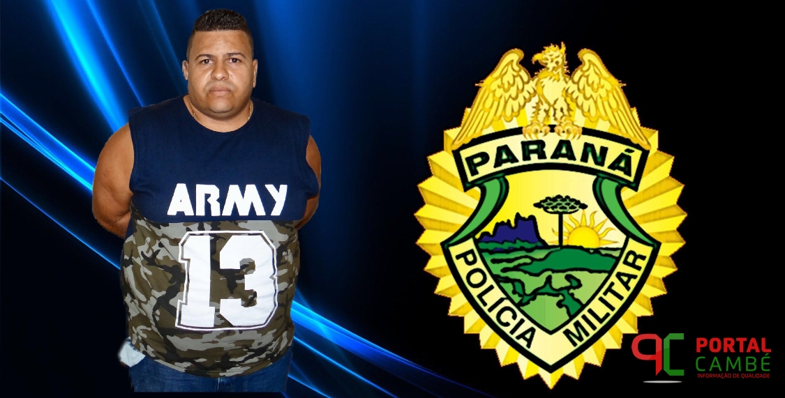 Suspeito de tráfico de drogas é preso pela Polícia Militar no Jardim Novo Bandeirantes em Cambé